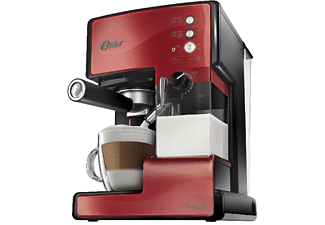 Cafetera exprés - Oster BVSTEM6601R-050 15 Bares de presión, Depósito desmontable para preparar