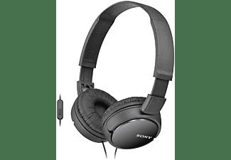 Auriculares con cable - Sony MDR-ZX110AP,  Supra-aural, Negro