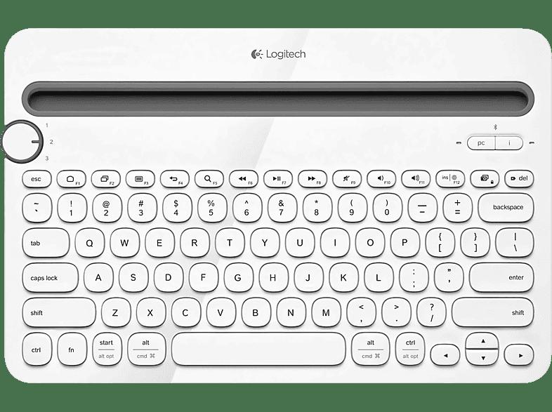 LOGITECH K480 Tastatur Weiss