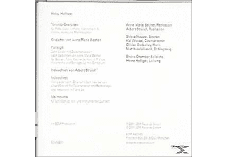Swiss Chamber Soloists & Various, Heinz/swiss Chamber Soloists Holliger - Induuchlen  - (CD)