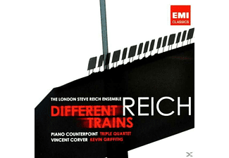 London Steve Reich Ensemble - Reich: Different Trains, Piano Counterpoint, Triple Quartet - (CD)
