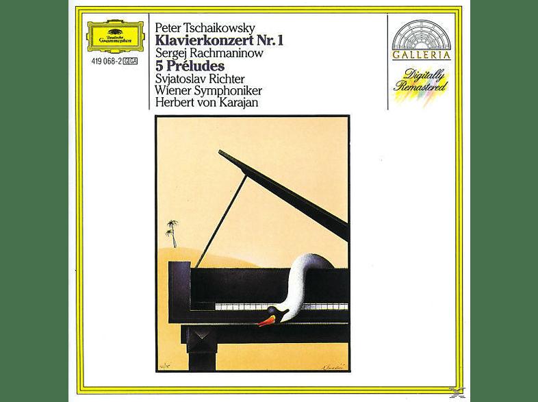 VARIOUS, Richter,Svjatoslav/Karajan,Herbert Von/WSY - Klavierkonzert 1/5 Preludes [CD]