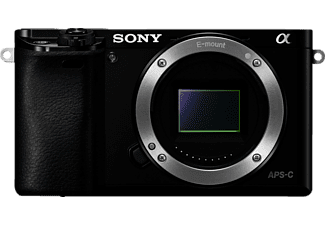 Cámara EVIL - Sony A6000, 24.3 MP, Sensor CMOS Exmor, Video Full HD, Montura tipo E, Negro