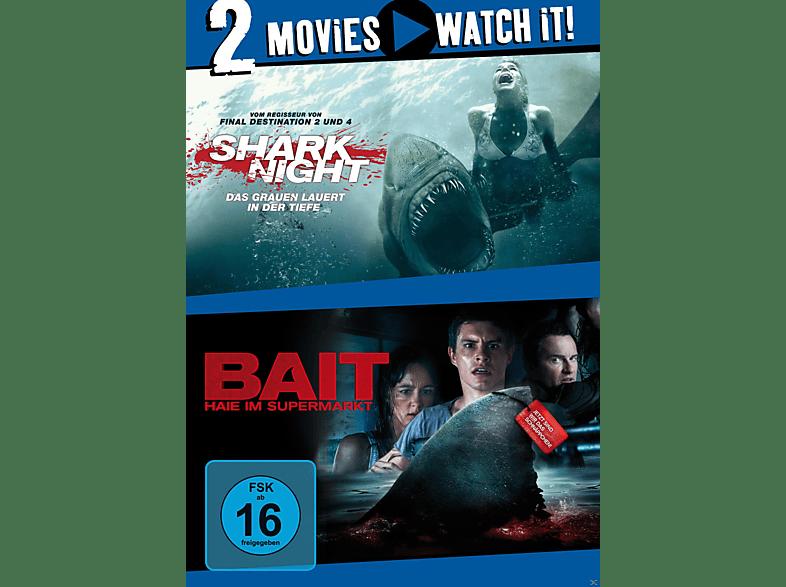 Shark Night / Bait - Haie im Supermarkt [DVD]