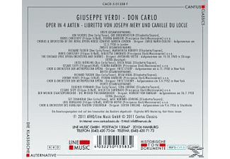Chicago, Chorus & Orch.Of The Royal Opera House - Don Carlo-Mp 3 Oper  - (MP3-CD)