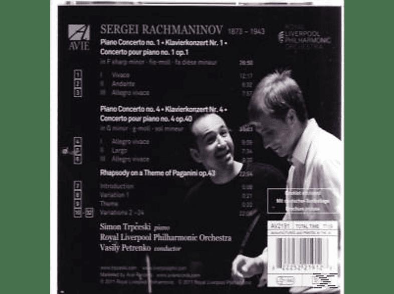 Simon Trpceski, Vasily Petrenko, Royal Liverpool Po - Rachmaninov: Piano Concertos Nos. 1 & 4 [CD]