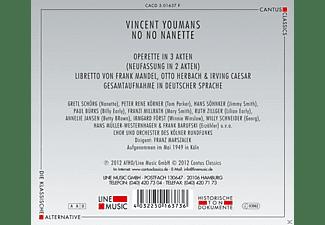 Chor & Orchester Des Kölner Rundfunks, Gretl Schörg, Peter René Körner, Hans Söhnker, Franzi Millrath, Paul Bürks, Ruth Zillger - No No Nanette  - (CD)