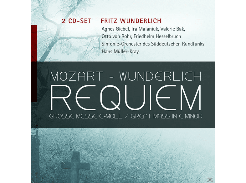 Wolfgang Amadeus Mozart, Fritz Wunderlich, VARIOUS - Fritz Wunderlich-Mozart: Requiem, Grosse Messe C-Moll [CD]