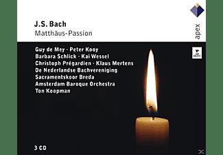 Guy De Mey, Peter Kooy, Kai Wessel, Christoph Prégardien, De Nederlandse Bachvereniging, Sacramentskoor Breda, Amsterdam Baroque Orchestra, Klaus Mertens, Schlick Barbara - Matthäus-Passion  - (CD)