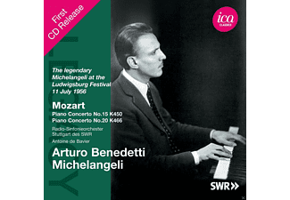 Arturo Benedetti Michelangeli, Radio-Sinfonieorchester Stuttgart des SWR - The Legendary Michelangeli At The Ludwigsburg Festival 11 July 1956 - (CD)