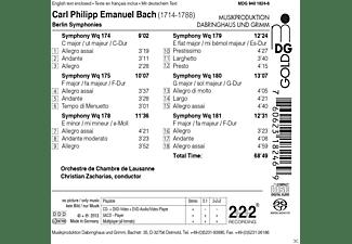 Orchestre De Chambre De Lausanne - Berliner Sinfonien Wq 174, 175+178-181  - (SACD Hybrid)