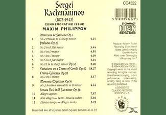Maxim Philippov - KLAVIERWERKE  - (CD)