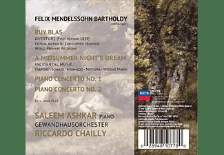 Saleem Ashkar, Gewandhausorchester Leipzig - A Midsummer Night's Dream / Piano Concertos Nos. 1 & 2  - (CD)