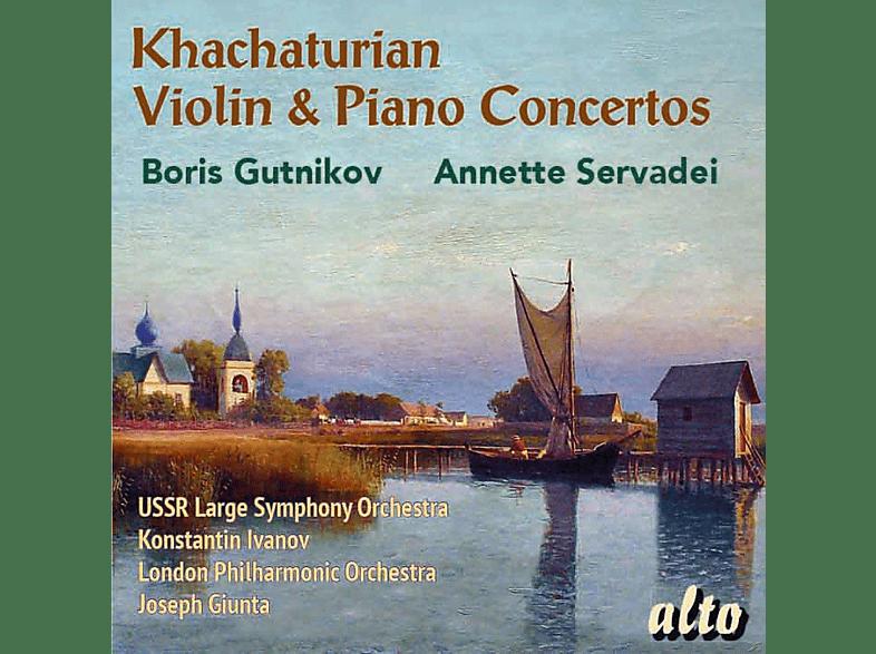 USSR Large Symphony Orchestra, Annette Servade, Boris Gutnikov, The London Philharmonic Orchestra - Violin & Piano Concertos [CD]