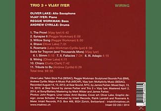 Vijay Iyer (pno) Trio 3 - Trio 3+Vijay Iyer-Wiring  - (CD)