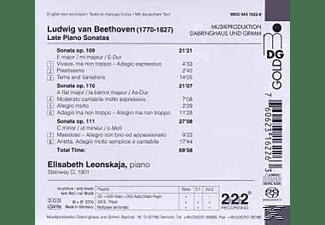Elisabeth Leonskaja - Klaviersonaten Opp.109-111  - (SACD Hybrid)