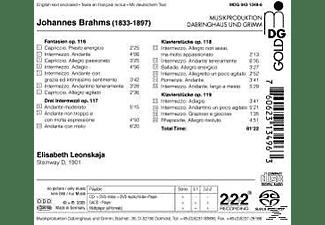 Klavier Elisabeth Leonskaja, Elisabeth Leonskaja - Klavierwerke Op.116-119  - (SACD Hybrid)