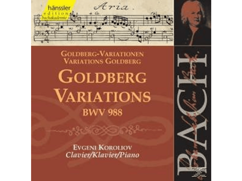 The Piano - GOLDBERG VARIATIONS BWV 988 [CD]