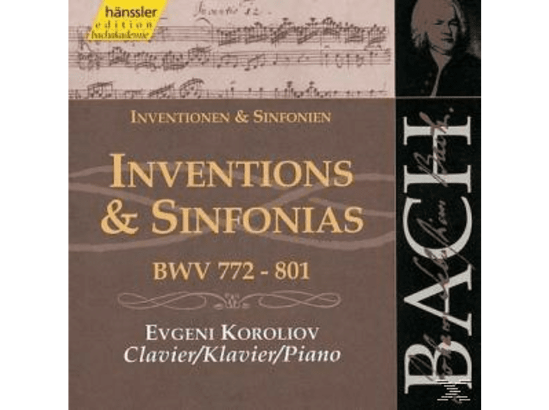 Evgeni Koroliov - INVENTIONS+SINFONIA BWV772-801 [CD]
