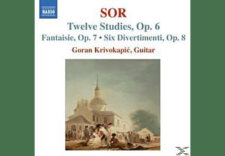 Goran Krivokapic - 12 Studien/Fantasie/6 Divertimenti  - (CD)