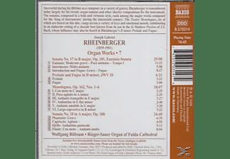 J.J. RHEINBERGER, Rübsam Wolfgang - Orgelwerke Vol.7  - (CD)