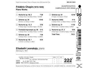 Elisabeth Leonskaja - Chopin: Piano Works  - (SACD Hybrid)
