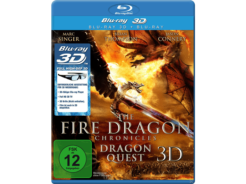 The Fire Dragon Chronicles: Dragon Quest 3D [3D Blu-ray]