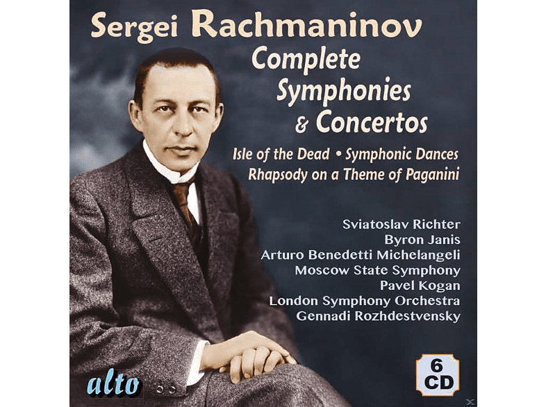 VARIOUS, London Symphony Orchestra, Moscow State Symphony Orchestra, St Louis Symphony Orchestra, Warsaw National Philharmonic Orchestra - Complete Symphonies & Concertos [CD]