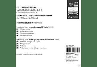 De Vriend/The Netherlands Symphony Orchestra - Sinfonien 4 & 5  - (SACD Hybrid)