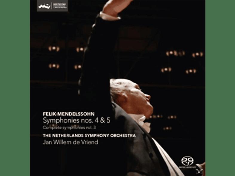De Vriend/The Netherlands Symphony Orchestra - Sinfonien 4 & 5 [SACD Hybrid]