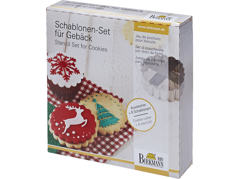 RBV BIRKMANN 146020 Merry Christmas 7-tlg. Schablonen-Set für Gebäck