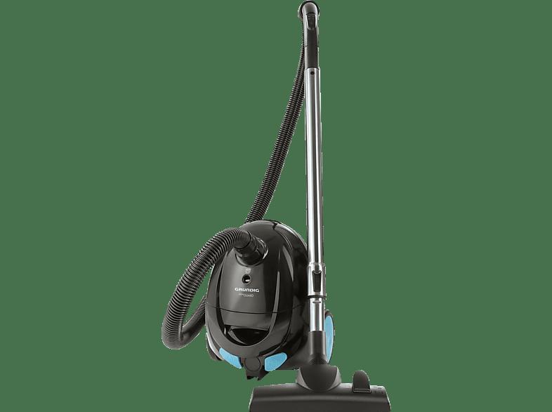 GRUNDIG VCC 4350A (mit Beutel, Motorschutz-Filter, Schwarz/Blau)