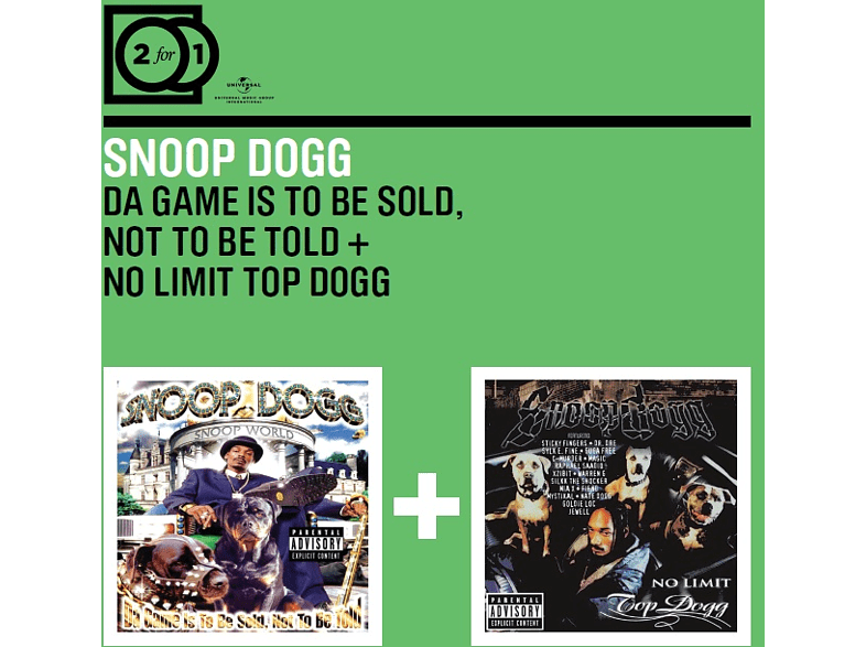 Snoop Dogg - 2 For 1: The Game Is To Be Sold, Not.../Top Dogg [CD]