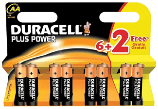 DURACELL Plus Power AA 6+2