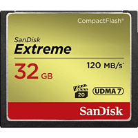 SANDISK Extreme, Compact Flash Speicherkarte, 32 GB, 120 MB/s