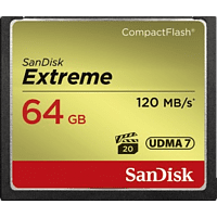 SANDISK Extreme, Compact Flash Speicherkarte, 64 GB, 120 MB/s