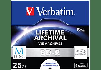 VERBATIM 43823 BD-R 25GB Single MDISC Blu-ray-M-Disc