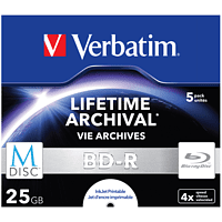 VERBATIM 43823 BD-R 25GB Single MDISC Blu-ray-M-Disc