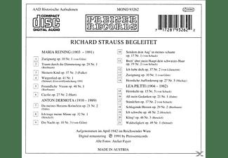 Richard Strauss, Maria Reining, Lea Piltti, Anton Dermota - R. Strauss Begleitet Vol.2  - (CD)