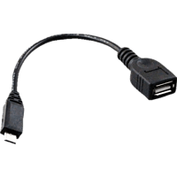 AGM 25676 OTG Micro-USB, Adapterkabel, Schwarz