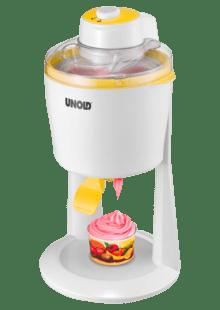 Weiß//Gelb UNOLD 48860 Softi 18 Watt Eismaschine