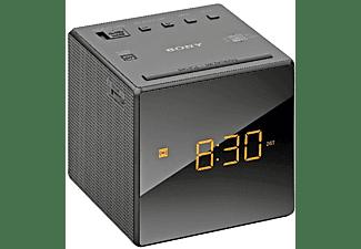 Despertador - Sony ICF-C1B, Radio AM/FM, Alarma, Batería de reseva, Negro