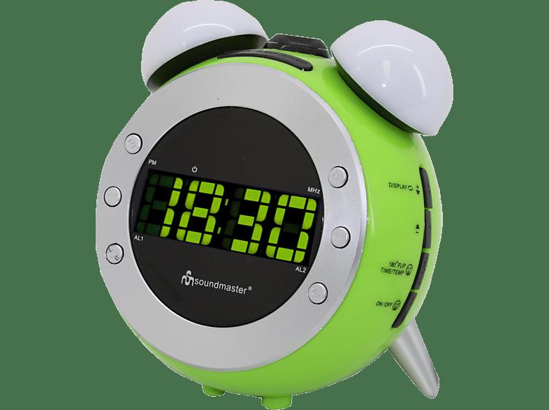 SOUNDMASTER UR140GR Uhrenradio (PLL Tuner, UKW, MW, Grün/Weiß)