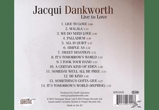 Jacqui Dankworth - Live To Love  - (CD)