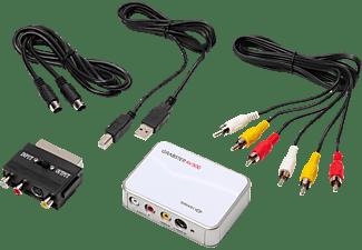 TERRATEC Grabster AV 300 MX USB 2.0 Video-Digitalisierer, Weiß/Silber