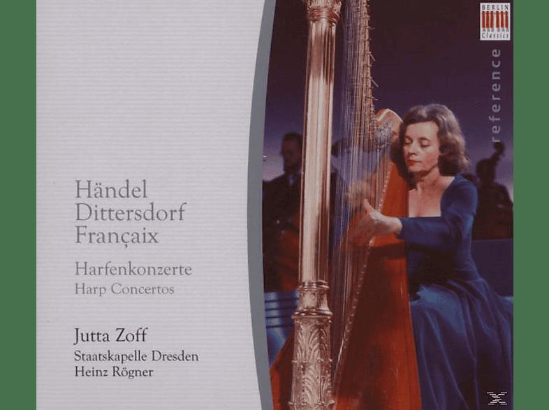 Heinz Rogner, Zoff,J./Rögner,H./Staka Dresden - Händel/Dittersdorf/Francaix: Harfenkonzerte [CD]
