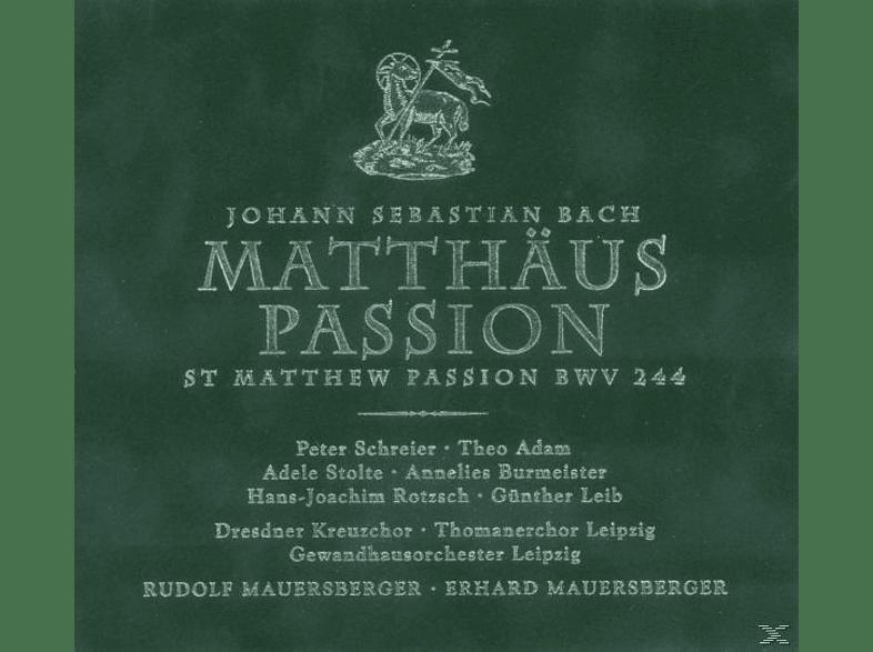 SCHREIER/ADAM/MAUERSBERGER/GOL - Matthäus-Passion/Mauersberger [CD]