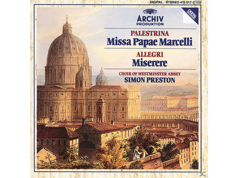 Preston Simon, S. Westminster Abbey Choir/preston - Missa Papae Marcelli/Tu Es Pet [CD]