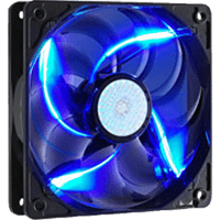 COOLER MASTER R4-L2R-20AC-GP SickleFlow 120 Blue LED 120mm Gehäuselüfter, Blau