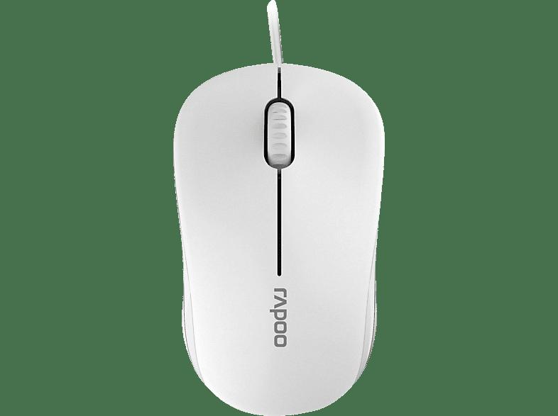 RAPOO 13749 N1130 Maus, Weiß